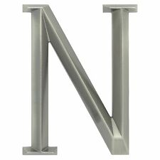 "WHITEHALL Door House Address Street Number Letter N Brushed Nickel 6"" 152mm 6 in"