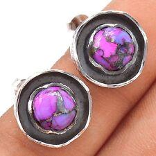 Purple Mohave 925 Sterling Silver Earrings Jewelry SE118949