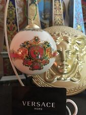 VERSACE LE ROI KING BALL CHRISTMAS ORNAMENT ROSENTHAL 200$ Retired in box SALE