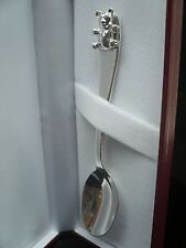 ARGENTO Sterling Per Battesimo Spoon, New Born Baby, Orsacchiotto, marchiato REGALO