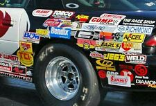 Lot of 20+ Large Racing Decals Stickers NHRA NASCAR Nitro Chevy Mopar Hot Rod