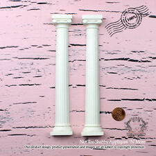 "Shabby Chic Furniture Appliques ""Roman columns(Set of 2)"""
