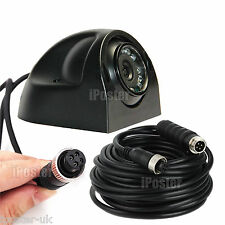 4PIN None Mirror CCD IR Colour Side View Camera+5M Cable For Caravan Truck Bus