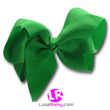 ✿ 6 Inch Extra Large Big Hair Bow Alligator Clip ✿ 40 colours ✿ UK Stock ✿