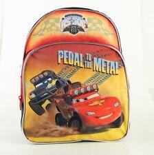 """Disney Pixar Cars 12"""" Boys Kids Backpack Bag Pedal to the Metal - Brand New USA"""