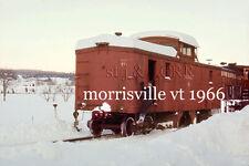 St J & LCRR Snowplow Flanger 71 Morrisville Vt yard  28 Dec 1966 a