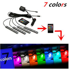 12LED 7 Colorful Remote Control Ambient Foot well Lighting Car Interior Parking