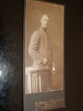 Cdv old photograph soldier by Flechtner at Unna Germany c1900s