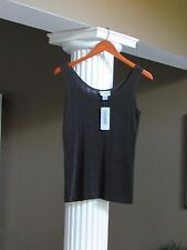 CHICO'S TRAVELERS Hot Fudge Brown Tank Top Shell Cami Size 0 (4-6) NWT $44