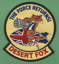 OPERATION DESERT FOX BRITISH ROYAL AIR FORCE MILITARY CAMPAIGN PATCH