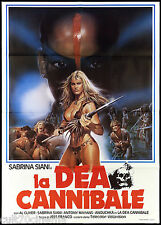 LA DEA CANNIBALE MANIFESTO CINEMA HORROR JESS FRANCO WHITE CANNIBAL POSTER 2F