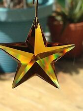 30mm Swarovski Crystal Star Prism Suncatcher Stunning Topaz  item#6714  Retired