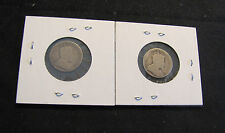 Lot of 2 Canada 10 Cents Silver Coins - 1907 & 1908