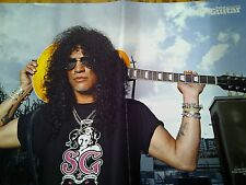 Slash Gibson SG Double Page Poster British Kerrang Magazine Guns n Roses