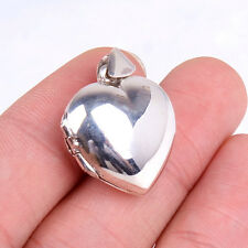 Fashion Design Ladies Genuine 925 Sterling Silver Heart Locket Pendant H525