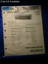 Sony Service Manual XR C7500R /C7500RX Car Stereo (#5331)