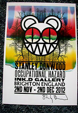 SIGNED STANLEY DONWOOD OCCUPATIONAL HAZARD ART SHOW CARD PRINT RADIOHEAD POSTER