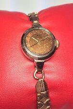 Vintage 1940's Mido Multifort Grand Luxe Mechanical Ladies 14K & Steel Watch