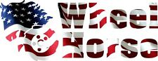 WHEEL HORSE AMERICAN FLAG VINYL DECAL - Set of 2