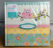 NEW CR Gibson Dina Happi Owl Baby Girl Floral Large Photo Album 160 4x6 Pic