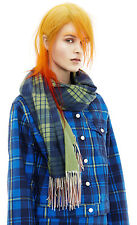 NWT Authentic ACNE STUDIOS Green Check Tartan 100% WOOL Oversized Long Scarf