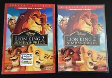 Disney THE LION KING 2 SIMBAS PRIDE Blu-Ray & DVD Special Edition + SlipCover II