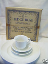 Rare  Enoch Wedgwood Hedge Rose England 4 Pcs Place Setting Plate Bowl Cup New