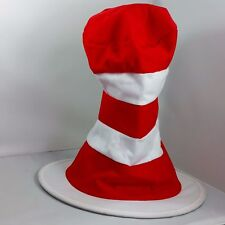 The Cat in the Hat Dr Seuss Adult Costume Hat Red and White Striped Dress Up