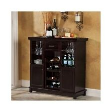 Wine Bar Furniture Cabinet Liquor Storage Wood Stemware Rack Bottle Dry Home Win