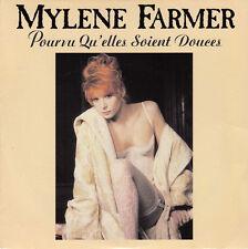 """Mylène Farmer 7"""" Pourvu Qu'Elles Soient Douces - Lettrage noir - France"""