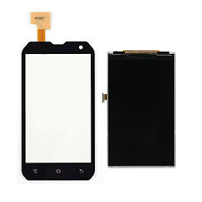 Black Touch Screen Digitizer Glass + LCD Display Parts For CAT B15