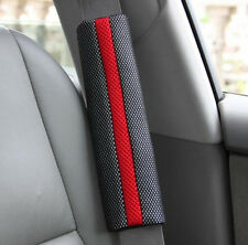 1pair Black Car Safety Seat Belt Shoulder Carbon Fiber Cover Comfortable Pads