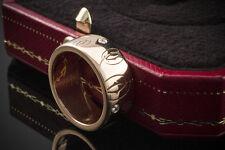 SCHMUCK CARTIER RING CC Logo mit BRILLANTEN in 750er ROTGOLD 18 Karat Gold Gr 51