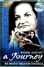 BEGUM AKHTAR - A JOURNEY - BRAND NEW BOLLYWOOD - 2 CASSETTES SET