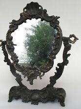 Antik Spiegel aus der Barock Zeit Bronze  wohl 18. - 19. Jhr. 34cm hoch
