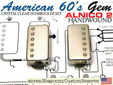 CR® 60'S HUMBUCKER BOUTIQUE GUITAR PICKUPS CRYSTAL CLEAR ALNICO 2 PAF HANDWOUND