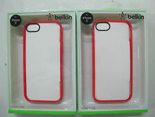 FREE! Just Pay Freight 2x BELKIN Ruby/Clear  Case iPhone 5 iPhone5s F8W153qeC05