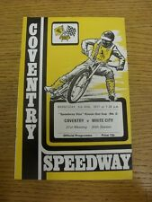 03/08/1977 Speedway Programme: Coventry v White City [KO Cup] (results noted, fo