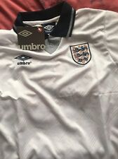 England 1990 World Cup Shirt Gazza 19 Small Gascoigne