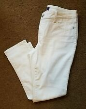 NYDJ Clarissa Jean in Optic White, sz 10 NWOT