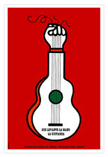 "Cuban movie Poster""GUITAR Raised Hand""Music art.TROVA.Home room wall decoration"