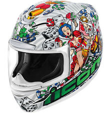 Icon Airmada Full Face Street Motorcycle Helmet Lucky Lid 2 White DOT ECE XL