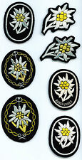 German  Elite  Edelwiess Officers  Patch middle left only
