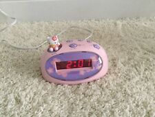 Hello Kitty LED Digital Alarm Clock by Sanrio KT3005P Pink Excellent Condition
