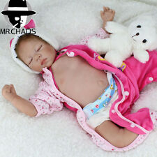 "Realistic Reborn Baby Dolls Newborn Boy 22"" Lifelike Soft Vinyl Body Baby Dolls"