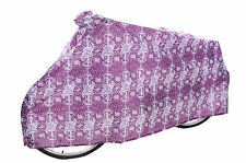BICYCLE COVER PURPLE/WHITE FOR 700c BIKE RALEIGH RED-OR-DEAD RUSCIA ROSE WACB65