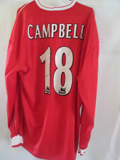 Middlesbrough Campbell 2001-2002 Match Worn Squad Signed Football Shirt with COA