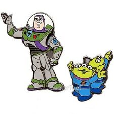 Disney 2 Pin Set TOY STORY BUZZ LIGHTYEAR & LITTLE GREEN MEN Pixar