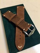 22mm Genuine Leather Watch Band Strap Handmade Distressed fits Tudor All Brands