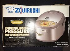 Zojirushi Induction Heating Pressure Rice Cooker/Warmer, 10 Cup, NP-HTC18 New!
